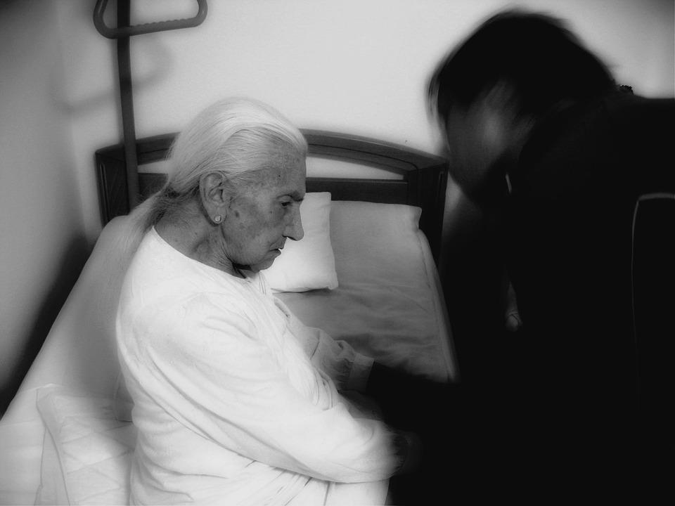 elderly man in carecenter